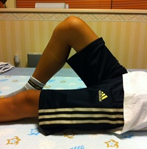 ひざの状態を確認 1回目