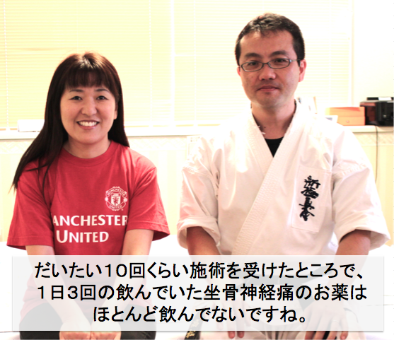 椎間板ヘルニアによる腰痛としびれに悩んでいた横澤さんと先生